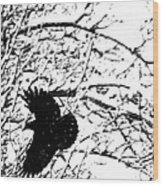 December Raven Wood Print