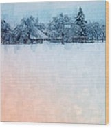 December Snow Wood Print