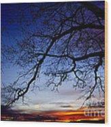 December White Oak Sunrise Wood Print