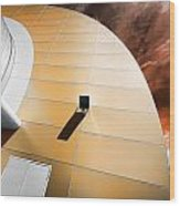 Deckchair In Space Wood Print