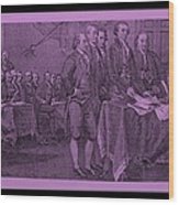 Declaration Of Independence In Pink Wood Print