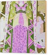 Deco Ladies Frostwork And Iris Wood Print