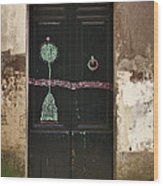 Decorated Door Wood Print