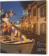 Decorated Fishing Boats Wood Print