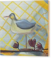 Decoy On A Stand Wood Print