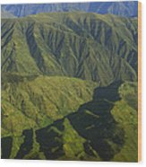 Deep Canyons Drain To Rio Apurimac Wood Print
