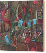 Deep City Three Wood Print