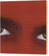 Deep Eyes Wood Print by Karin De oliveira