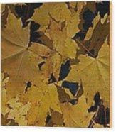 Deep Leaves Wood Print