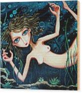 Deep Pond Dreaming Wood Print