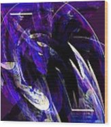 Deep Purple Abstract Wood Print