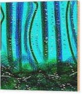 Deep Sea Wood Print by Rosana Ortiz