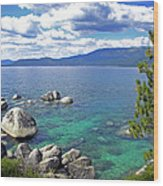 Deep Waters Lake Tahoe Wood Print