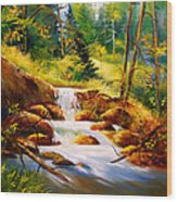 Deep Woods Beauty Wood Print