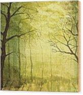 Deep Woods Wood Print by Heather Matthews