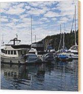 Deer Harbor Blues Wood Print