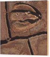 Deer Imprint In Mud Wood Print
