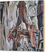 Delaunay: Eiffel Tower, 1910 Wood Print