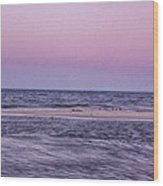 Delaware Bay Dawn Wood Print