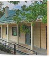 Delaware Park Casino Wood Print