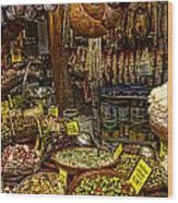 Deli In Palma De Mallorca Spain Wood Print by David Smith