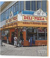 Deli Pizza Grill Funnel Cakes Wood Print