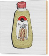 Deli Style Mustard Wood Print by George Pedro