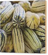 Delicata Winter Squash Wood Print