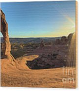 Delicate Arch Bowl Wood Print