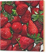Deliciously Sweet Strawberries Wood Print