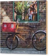Delivery Bicycle Greenwich Village Wood Print