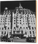 delta bessborough hotel downtown Saskatoon Saskatchewan Canada Wood Print by Joe Fox
