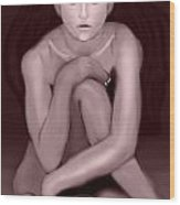Demi Moore Old Style Wood Print