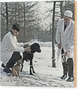 Demikhov's Laboratory Dogs, 1967 Wood Print