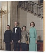 Deng Xiaoping Jimmy Carter Madame Zhuo Wood Print