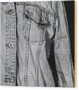 Denim Jacket Wood Print by Joana Kruse