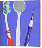 Dental Equipment Wood Print