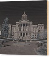 Denver Colorado Capital Wood Print