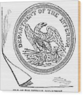 Department Of The Interior Wood Print