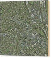 Derby, Uk, Aerial Image Wood Print