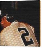 Derek Jeter II- New York Yankees - Baseball  Wood Print