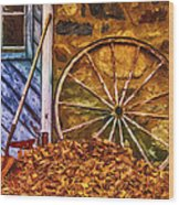 Derelict Cabin Wood Print