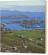 Derrynane Harbour, Caherdaniel, Ring Of Wood Print