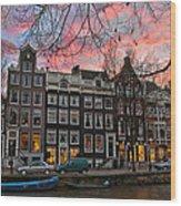 Desafinado-prinsengracht. Amsterdam Wood Print