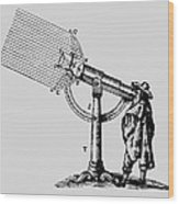 Descartes' 'giant' Microscope, 1637. Wood Print