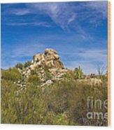 Desert Boulders Wood Print