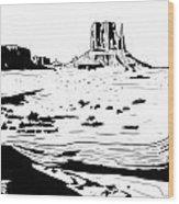 Desert Wood Print by Giuseppe Cristiano