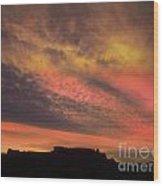 Desert Sunset Wood Print