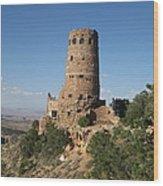 Desert Watchtower Wood Print