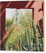 Desert Window Wood Print